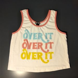 Cute multicolored Over it crop top size large